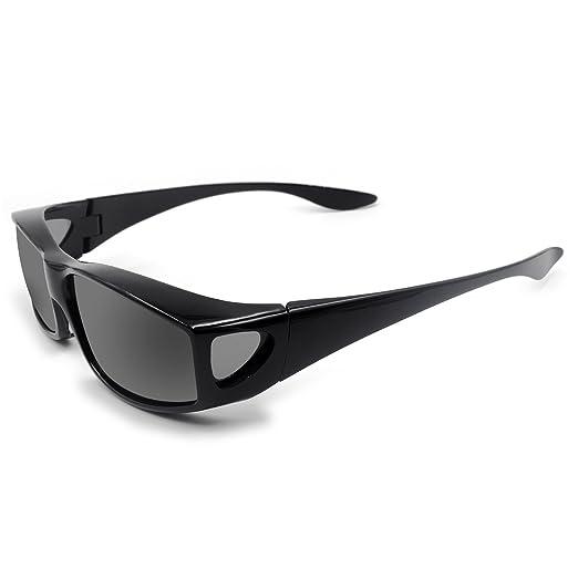 Amazon.com: Colocar sobre anteojos de sol lentes polarizadas ...