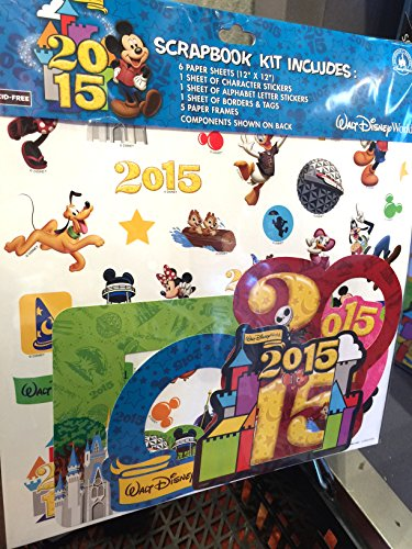 Walt Disney World 2015 12 x 12 Scrapbook Kit NEW (Disney World 2015 Scrapbook)