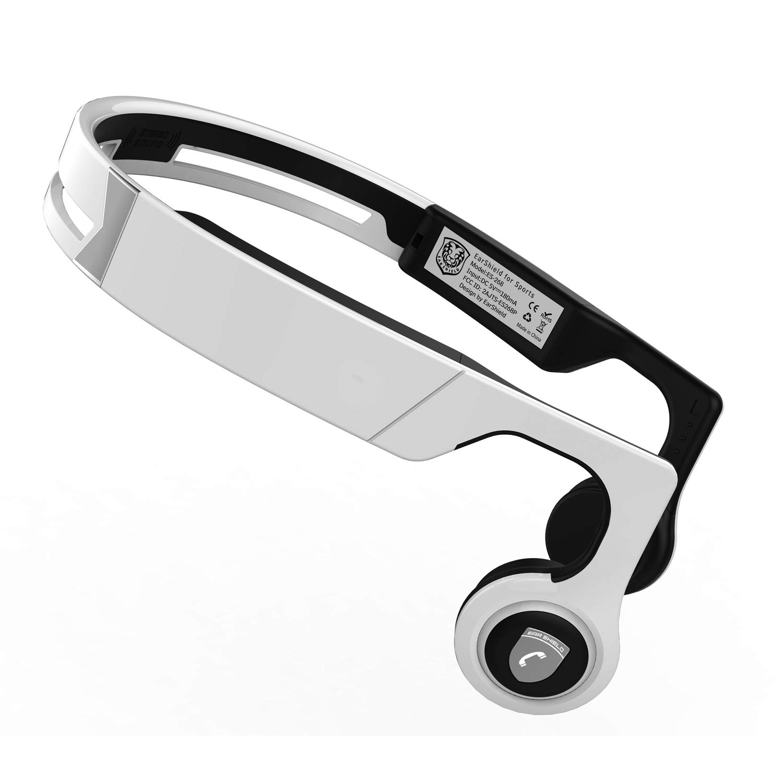 MoreinTech Bone Conduction Headphones Bluetooth V4.2 Sweatproof Wireless Sport Headsets Open Ear Upgraded Version White