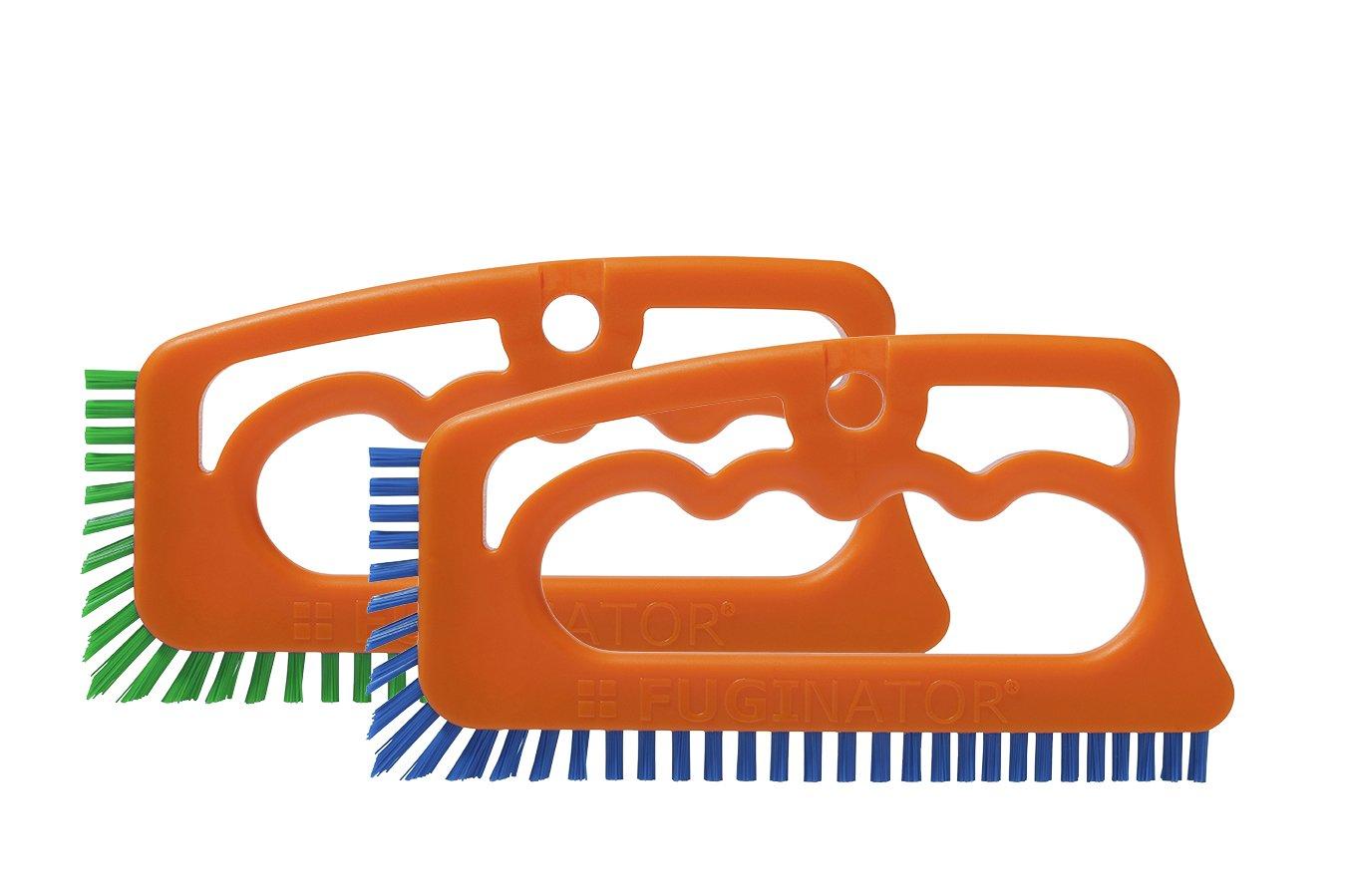 """Cepillo Fugenial """"Fuginator®"""" para limpieza de juntas para cocinas, muebles y hogar - Limpia a fondo las juntas de las baldosas y azulejos y elimina el moho superficial - Pack ahorro de dos unidades - Azul/verde (limpieza universal/limpieza"""