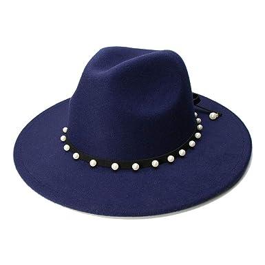 GHC gorras y sombreros Caballero Elegante Dama Invierno Otoño Ancho Ala Jazz Iglesia Panamá gorra,