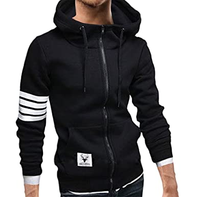 1818f2509 Pishon Men's Zip Up Hoodies Cotton Plain Lightweight Long Sleeve Hoodie  Sweatshirt at Amazon Men's Clothing store: