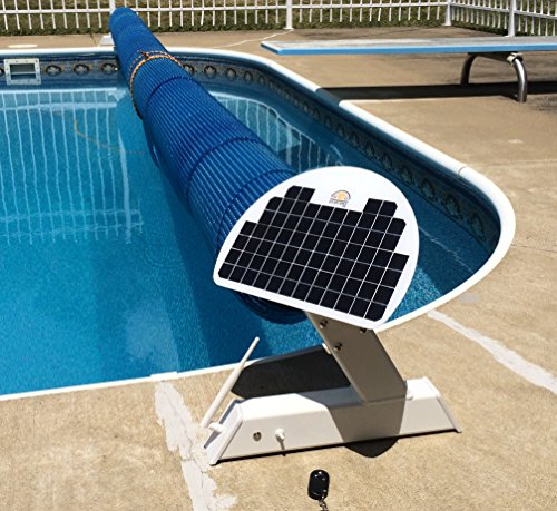 Automatic Solar Blanket Cover Reel/Roller - Remote Controlled, Solar Battery Charged/Powered,...