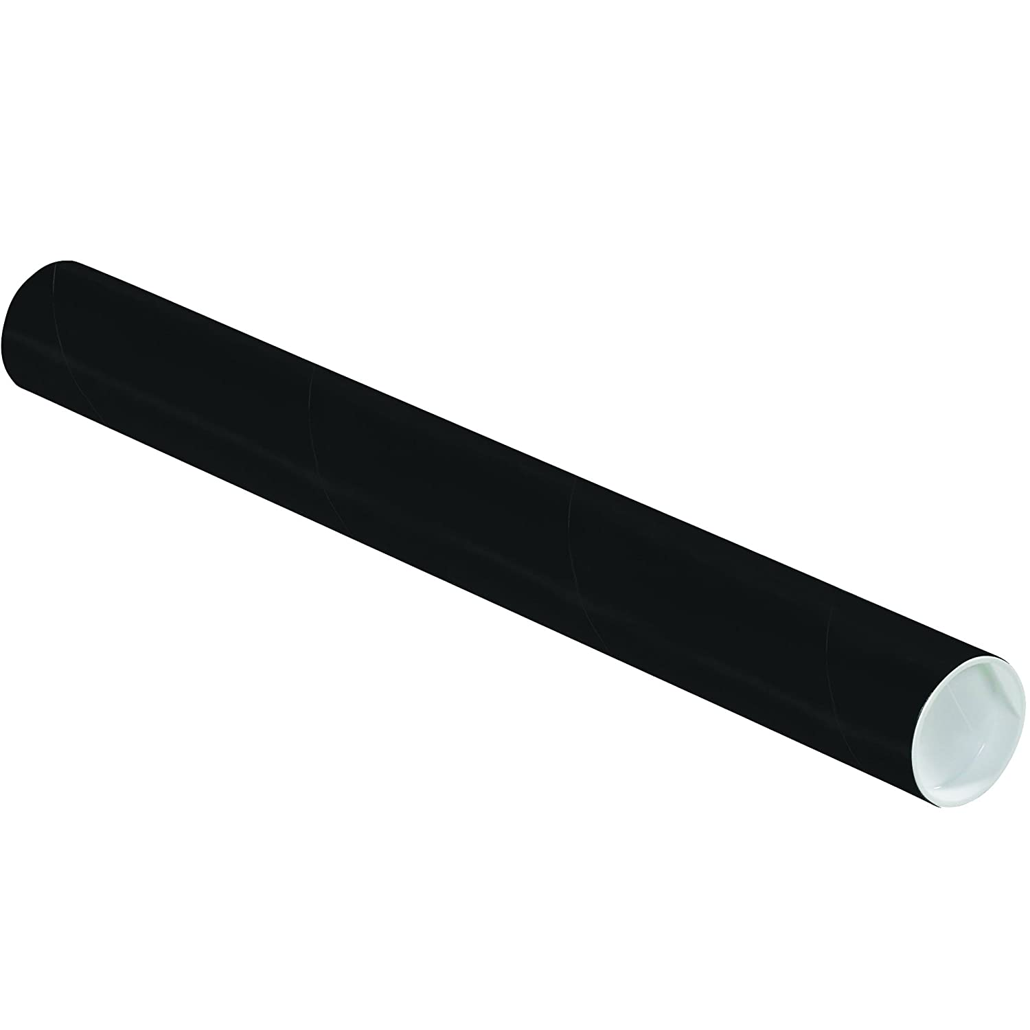 Ship Now Supply SNP2018BL Mailing Tubes with Caps 2 x 18 Black Pack of 50
