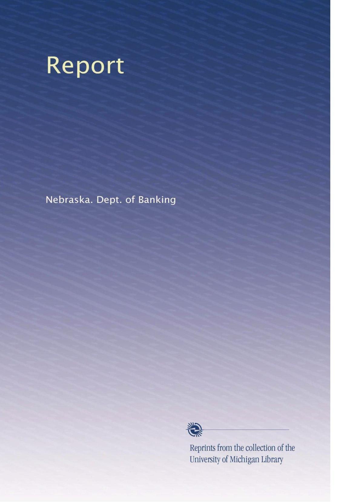 Read Online Report (Volume 7) pdf epub