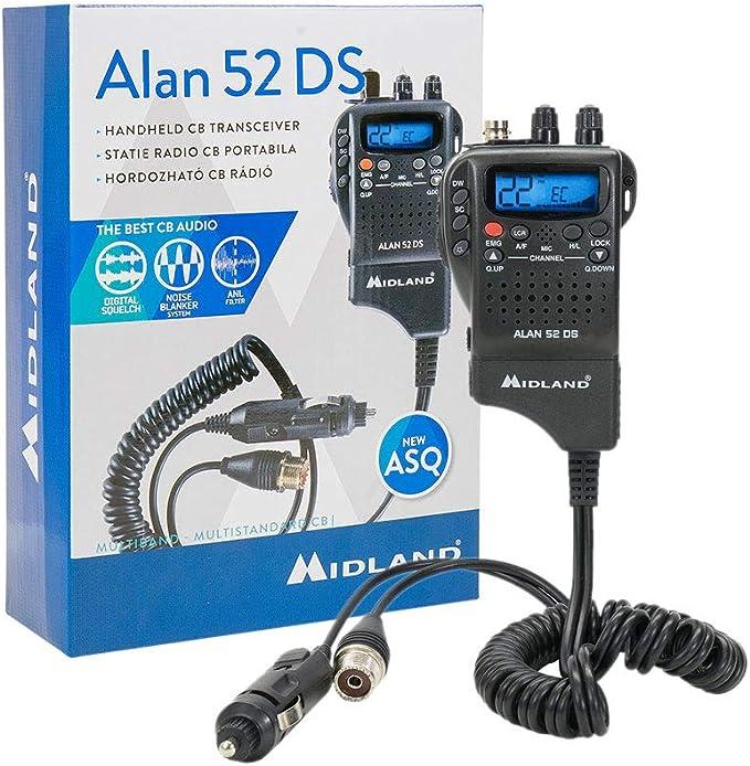 Cb Radio Midland Alan 52 Ds Multi Squelch Automat Digital Cod C1267 01 Auto