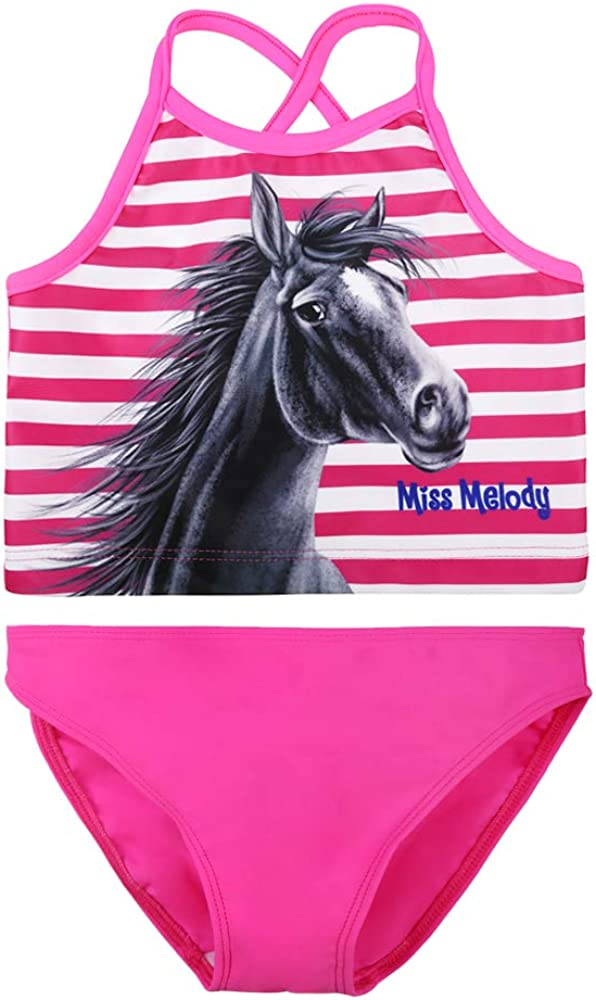 Pink Miss Melody Ragazza Tankini Swimwear Costumi da Bagno