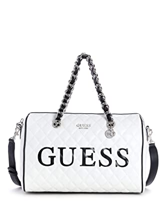 : GUESS Sweet Candy Large Quilted Satchel: Clothing