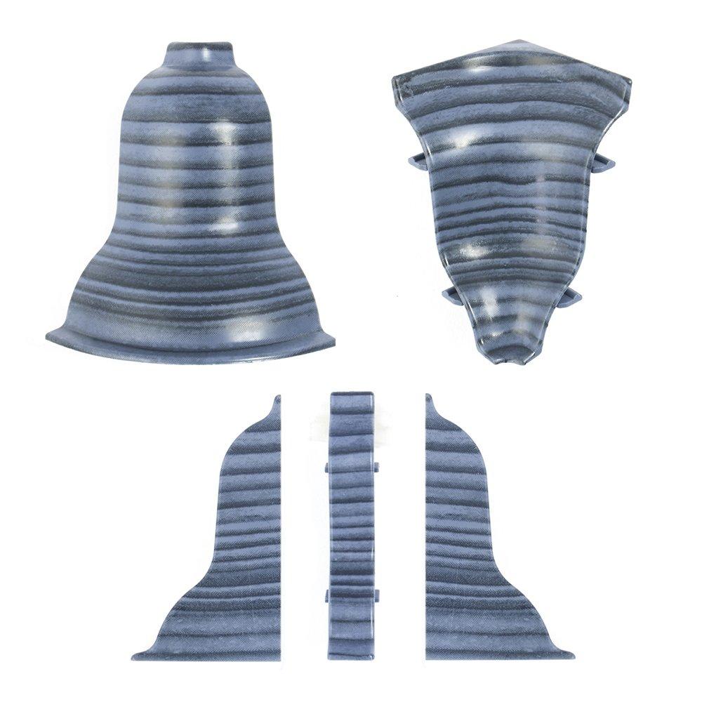 DQ-PP 1 xEndst/ücke links wei/ß 52mm zum Dekor Lamiat Dekore Laminatleisten Fussleisten aus Kunststoff PVC