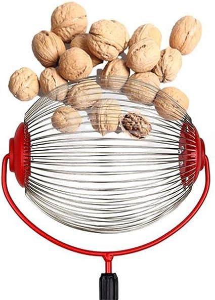 Buckeyes Balls Nut Gatherer Garden Rolling Nut Harvester Medium Nut Collector Handheld,Pecan Picker Picks Up Walnuts Pecans Nuts Sweet Gum Balls,Small Acorns Without Rod Crab Apples