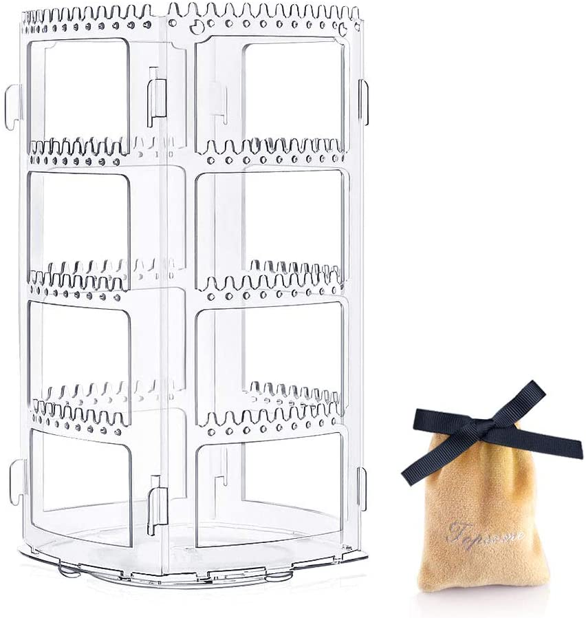 Topsome Earring Holder Rotating Earing and Jewelry Organizer