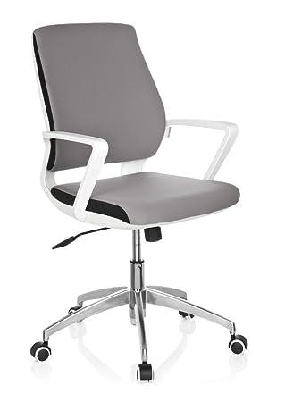 hjh OFFICE - 719210 Silla de oficina ESTRA tejido gris armazón ...