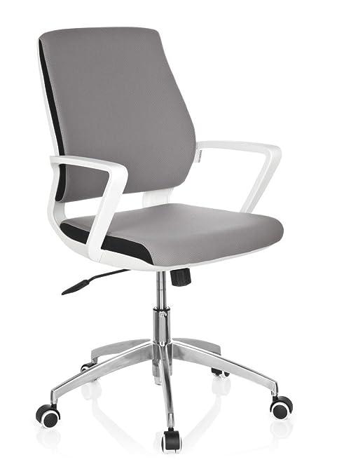 2 opinioni per hjh OFFICE 719210 Sedia da ufficio/Sedia girevole ESTRA tessuto grigio con