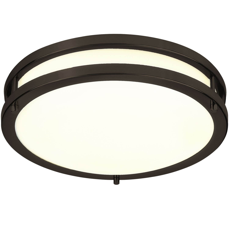 LB72120 12-Inch LED Flush Mount Ceiling Light, Oil Rubbed Bronze, 3000K Warm White, 1050 Lumens, Dimmable