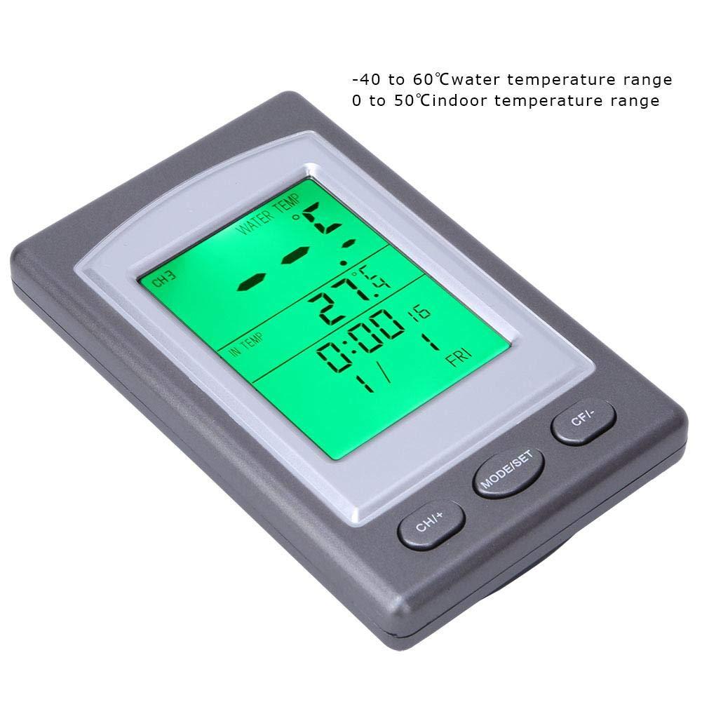 Term/ómetro digital term/ómetro de agua remoto inal/ámbrico Suministros industriales para piscinas//estanque de peces