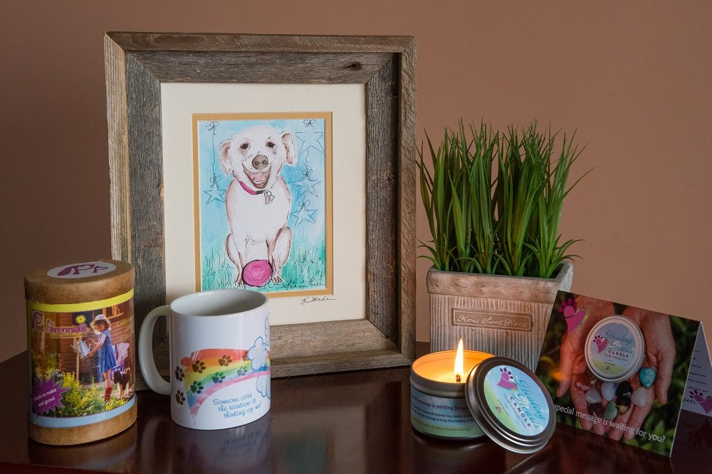 Dog Card and Healing Hearts Pet Memorial Candle by Pet Perennials love - seeds - life (Image #6)