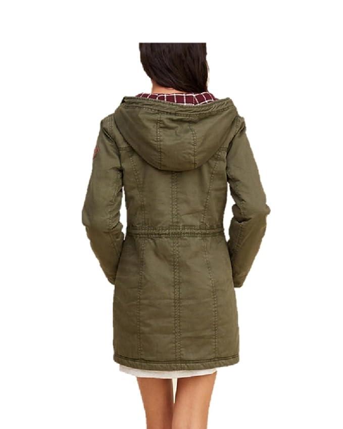 Hollister - Chaqueta - Parka - para Mujer Verde Verde Large ...