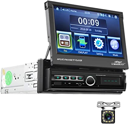 Camecho Bluetooth Autoradio Single Din 7 Faltbares Elektronik