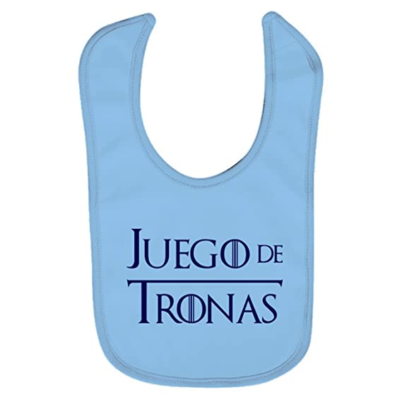 Babero bebé Juego de Tronas (Juego de tronos - parodia). Regalo original. Babero bebé divertido. Bebé friki.