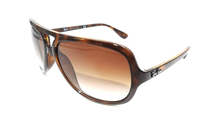 f73970ccb1 Image Unavailable. Image not available for. Color  Ray Ban Sunglasses RB  4162 RB4162 710 51 Acetate Havana Gradient brown