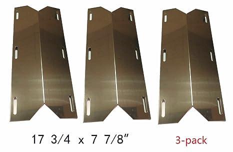 Hongso SPB631 (3-pack) Stainless Steel Grill Heat Plate Heat Shield  sc 1 st  Amazon.com & Amazon.com : Hongso SPB631 (3-pack) Stainless Steel Grill Heat ...