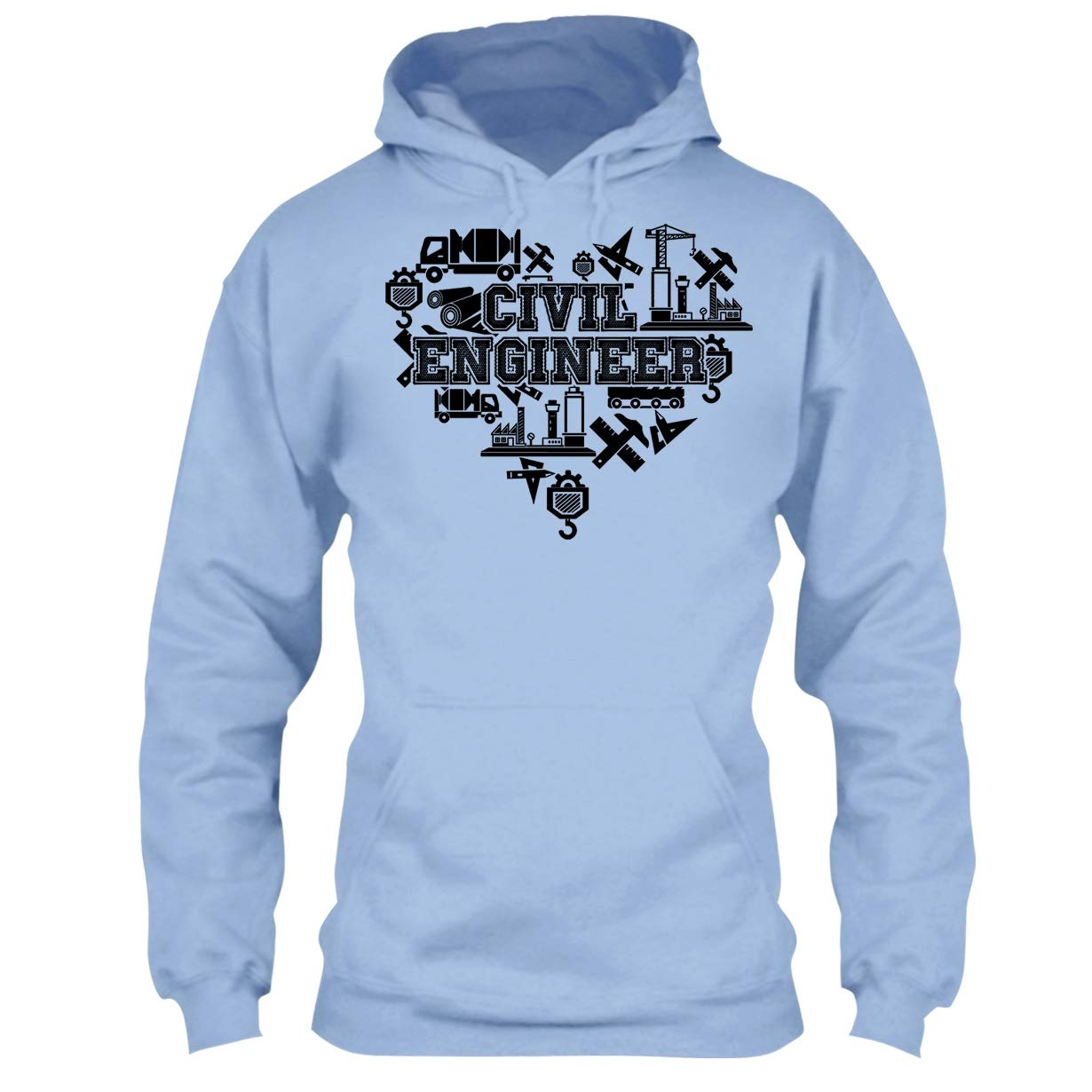 Arered Civil Engineer Cool Tshirt Civil Engineer Heart T Shirt Design