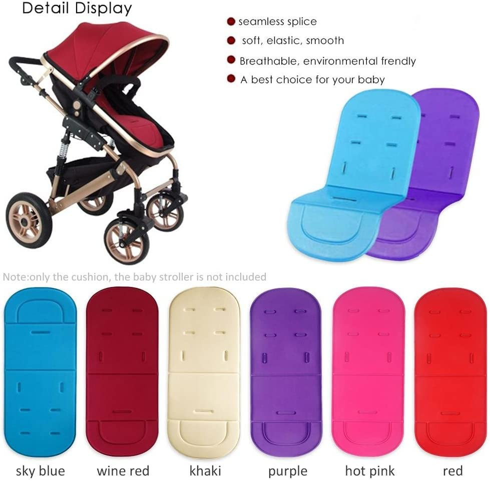 Kindersitzkissen Rouge,Sportwagen Sommer Atmungsaktive Sitzeinlage Universal Auflage F/ür Kinderwagen perfecti Baby Sitzauflage