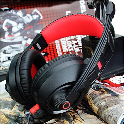 LILINA Bluetooth Headset Lightweight, Hi-Fi Stereo Wireless Headset, Foldable Headset, Built-In Microphone And Wired Mode, Esports Gaming Karaoke Headset Desktop Headset With Microphone,Blackred by LILINA (Image #1)