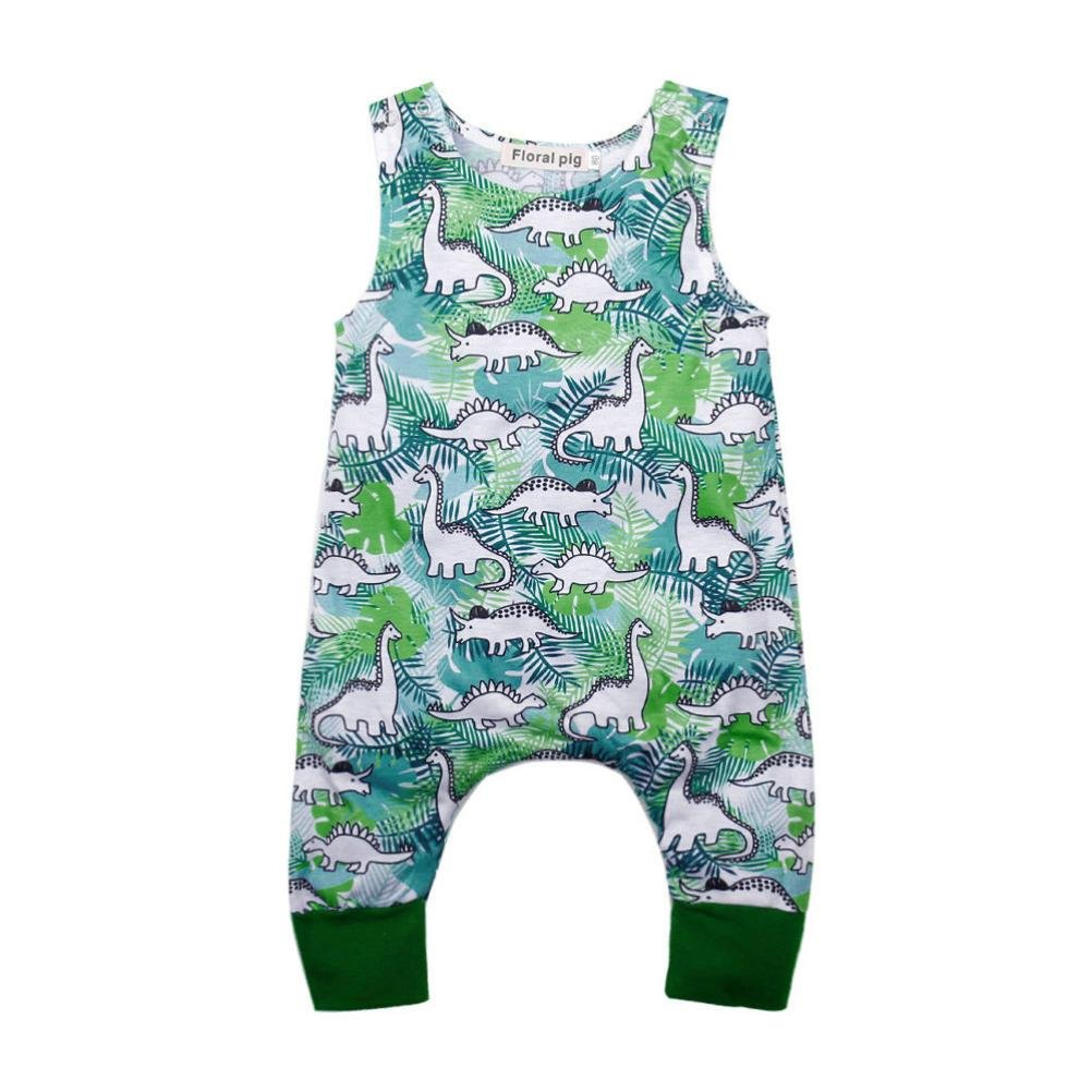 Dinosaur Print Romper Jumpsuit Layette Spring//Summer Memela Baby Boys Girls Clothes