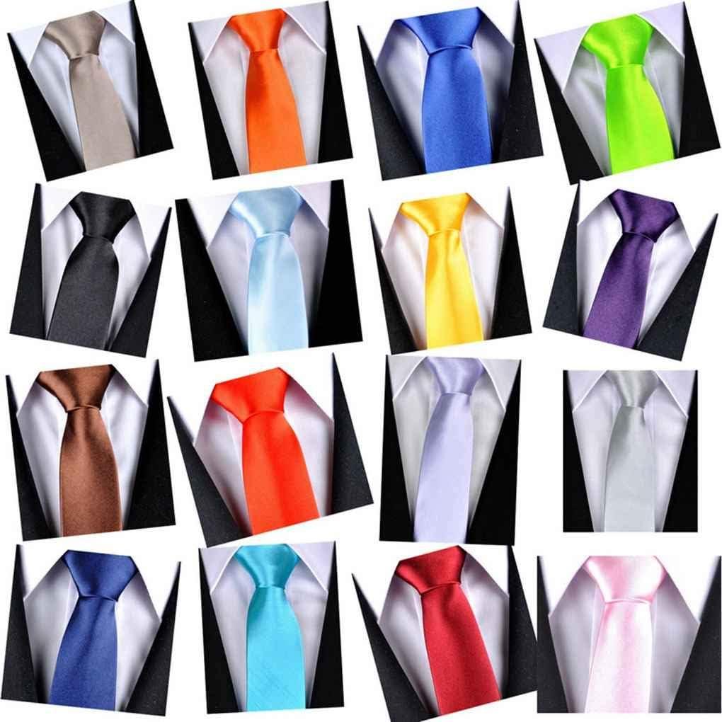 Runme Multi Farben Male Soft Polyester Seide Krawatte Bequeme Mann-Hochzeit Krawatten festes Muster Krawatten