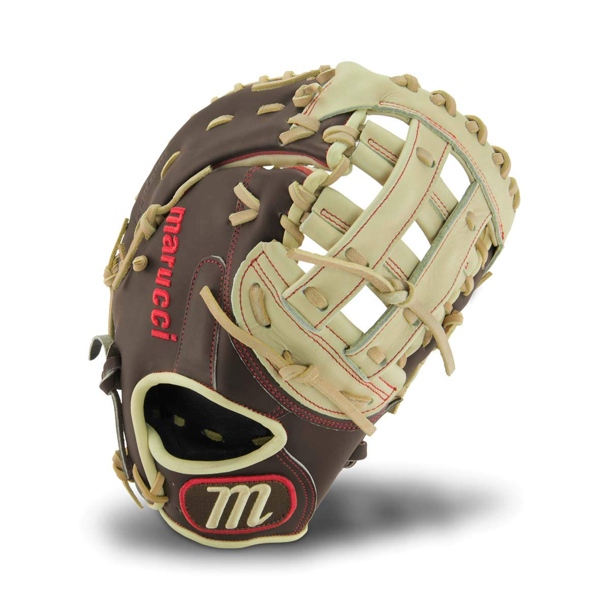 Marucci MFGBR125FB-GM/CM-RG BR450 Series Baseball Fielding Gloves, Gumbo/Camel, 12.5'' by Marucci (Image #1)