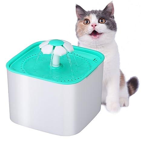 Excelvan Fuente para Gatos 2L Circulante,Fuente de Agua, para Mascotas, Automático Silencio