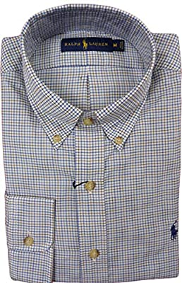 Ralph Lauren Men's Brushed Twill Checkered Button-Down Shirt