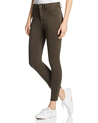 60e01cfdfdd93 Image Unavailable. Image not available for. Color: DL1961 Women's Jessica  Alba No. 2 Trimtone Skinny Ankle Jeans In Grassland ...