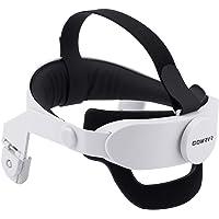 GOMRVR Regulowany pasek na głowę Oculus Quest 2 z wygodną dużą poduszką na plecy projekt równoważy wagę zmniejsza nacisk…