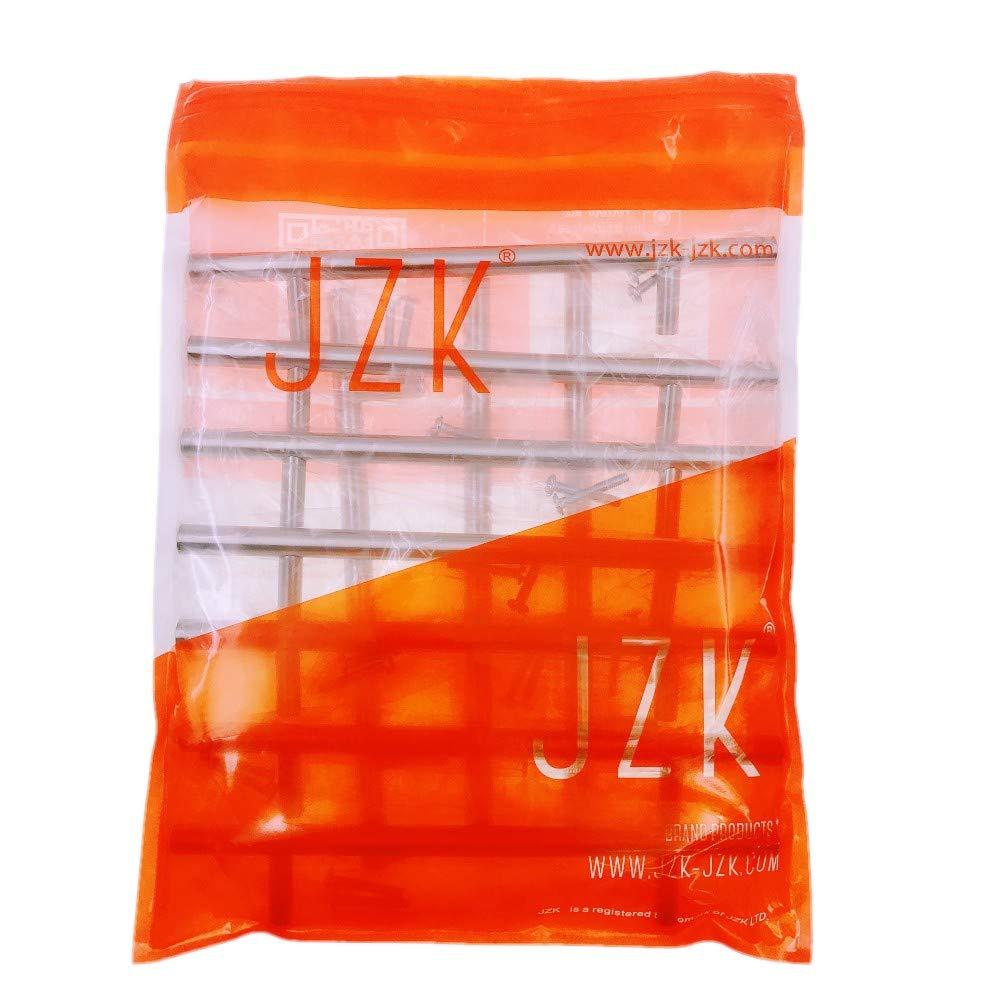 JZK 10 x Tiradores manijas en forma de T en acero Inoxidable 128 mm espacio de agujero para armario muebles puerta caj/ón cocina manijas