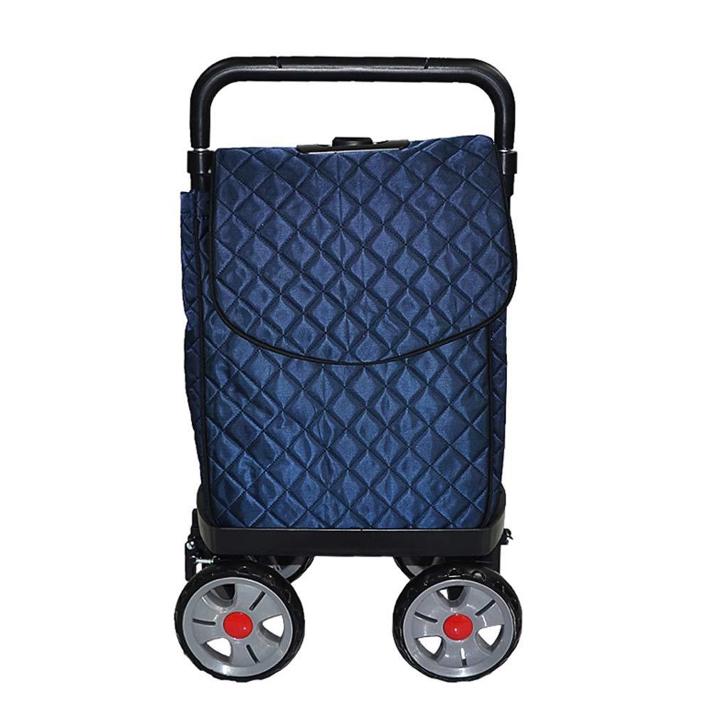 ショッピングトロリー アルミショッピングカート折りたたみ式ショッピングトロリー 老人食料品ショッピングトロリーキャンプ用小型カート 持ち運びが容易な、大容量   B07H3YCV75
