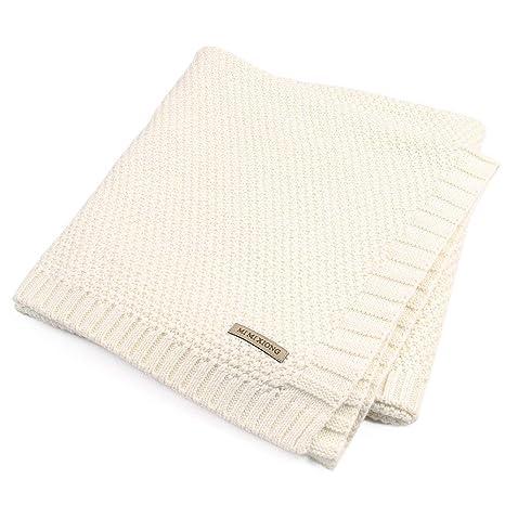 Trayosin - Manta para bebé (algodón orgánico) blanco Blanco: Amazon.es: Bebé