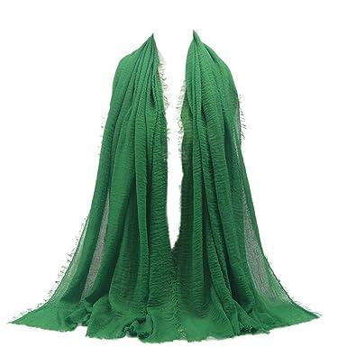 8f6a2b2859b Cinnamou Mode Femmes Premium Viscose Maxi Crépis Nuage Hijab Écharpe Châle  Doux Islam Foulards Musulmans Echarpes