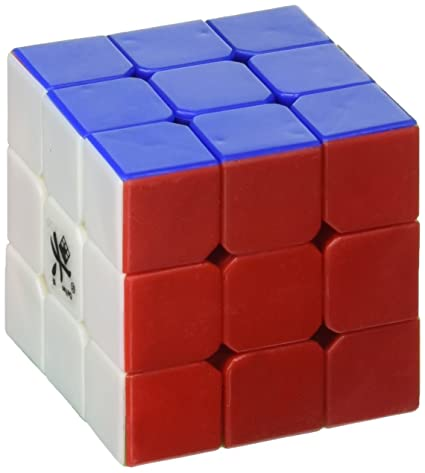 new appearance best detailed images Dayan DYZH42 42mm Mini ZhanChi Stickerless Speed Cube, 3x3-Inch, 6 Color