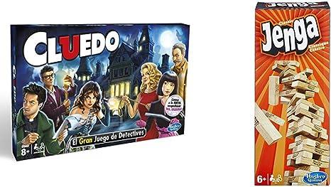 Hasbro Gaming Gaming Clasico Cluedo (Versión Española), Miscelanea (38712546) + Jenga Classic, única (A2120EU4): Amazon.es: Juguetes y juegos