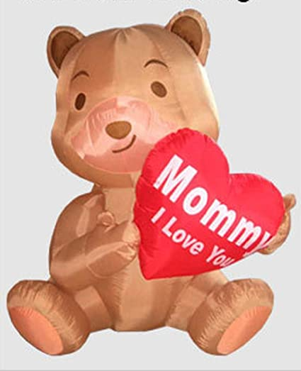 3f511950cebe3 Amazon.com: MOTHERS DAY INFLATABLE BEAR HOLDING