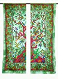 Gemsandcraft Mandala Curtain Hippie Bohemian Tree of Life Mandala Curtains,Include 4 Pcs Set Mandala Curtain, Curtains, Drapes & Valances,Vintage Window Treatment Curtain