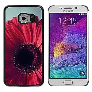 Be Good Phone Accessory // Dura Cáscara cubierta Protectora Caso Carcasa Funda de Protección para Samsung Galaxy S6 EDGE SM-G925 // Petal Floral Pink Purple