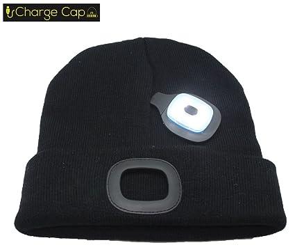 ecc9e415450 CHARGE CAP USB LED headlamp BEANIE - Activewear LED headlamp. Remove +  Recharge bright LED