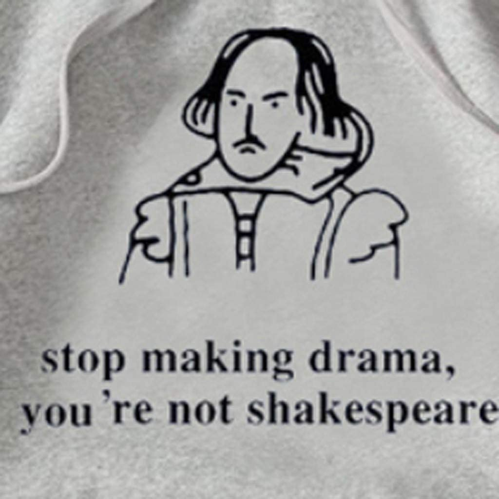 Whycat Stop Making Drama You/'re Not Shakespeare Funny Slogan Hoodies Women Letter Print Sweatshirt Hooded Pullover Girls Cute School Casual Tops Blouse
