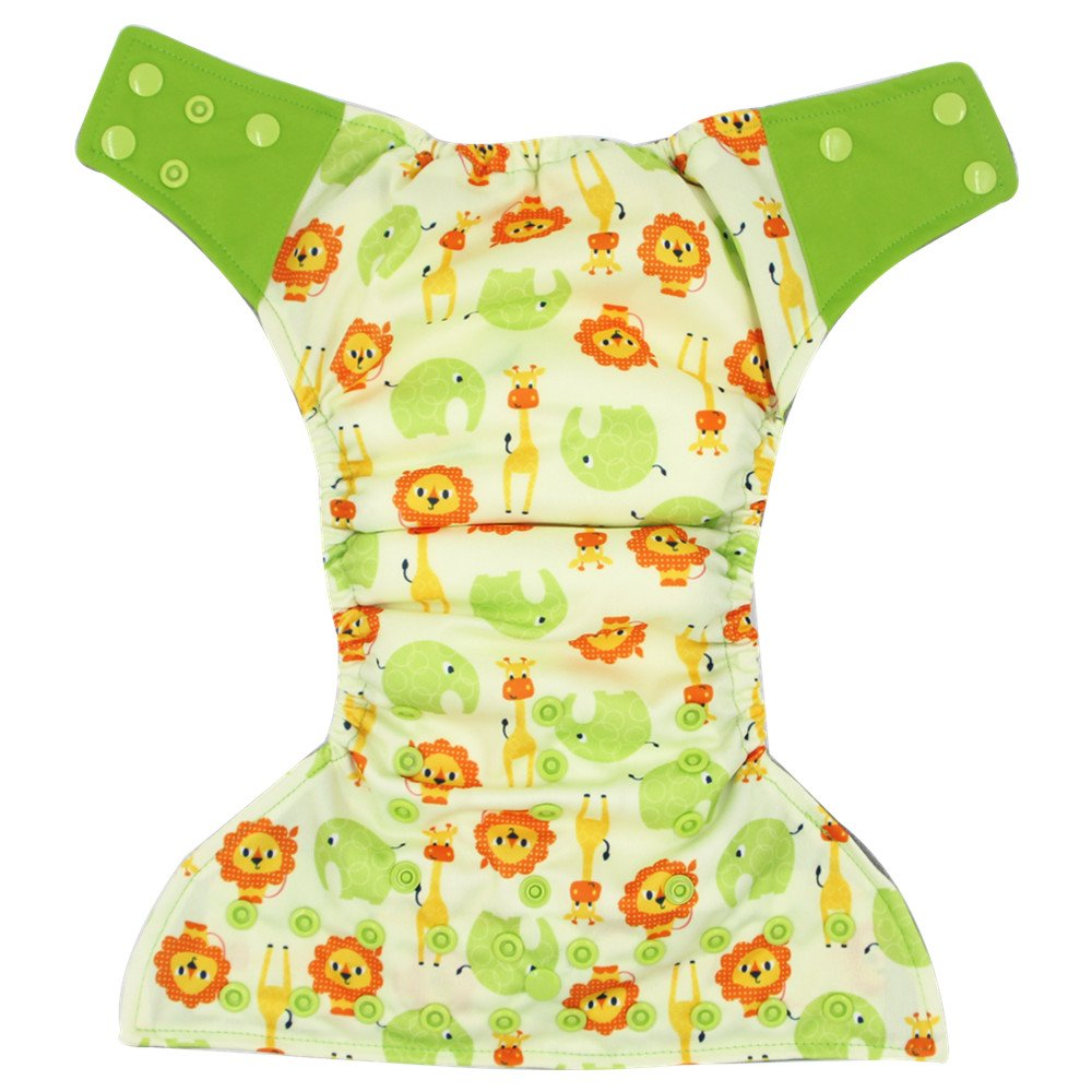 AIO Reusable Washable Cloth Diaper Nappy Charcoal Bamboo Insert Overnight A01