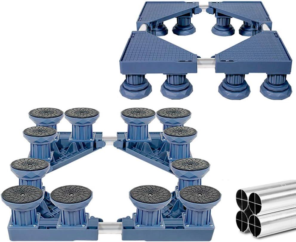 Lavar Base de la m/áquina Ajustables 41-68 cm Tubo de Acero Inoxidable/Nevera Secador de Soporte,Blue-4Feet