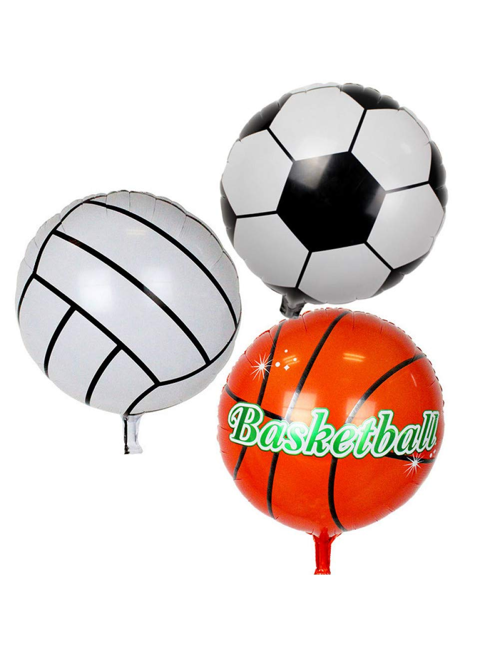 ZLJTT 3 Piezas 18 Pulgadas fútbol Baloncesto Globo Voleibol Foil ...
