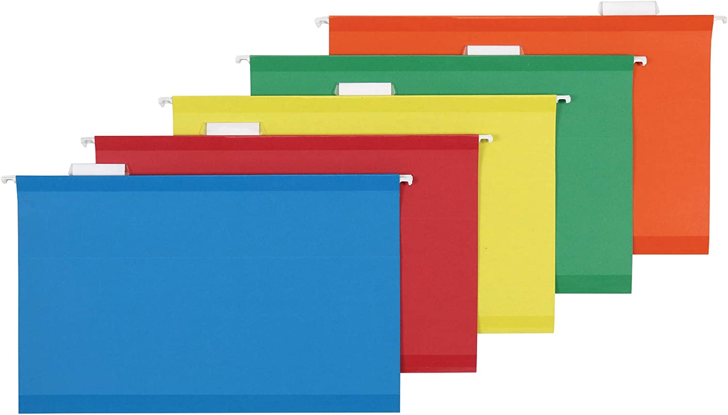 AmazonBasics Hanging File - Poly Reinforced, 1/5 Tab, Assorted, Legal, 25 per Box